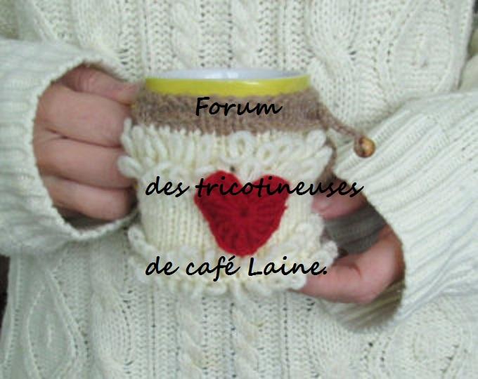 tricotinneuse de café laine