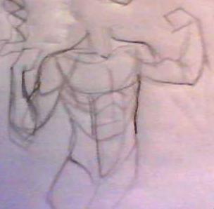 s'entraîner de façon simple pour apprendre à dessiner le corps. Image213