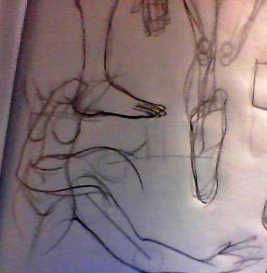 s'entraîner de façon simple pour apprendre à dessiner le corps. Image214