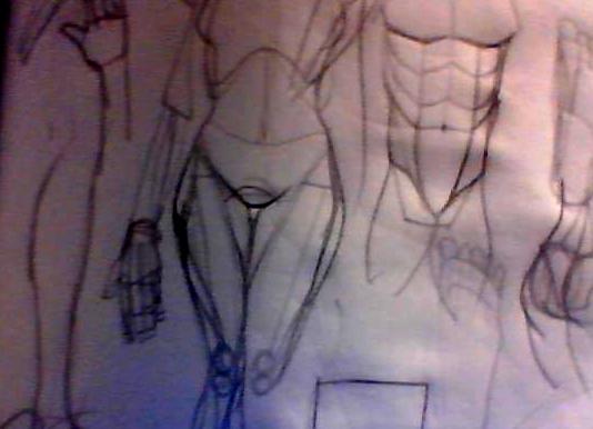 s'entraîner de façon simple pour apprendre à dessiner le corps. Image216