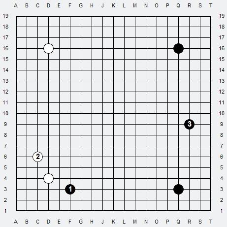 Les 3 Règles de base du Fuseki : Règle 1 3r-1a14