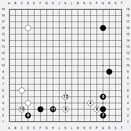 Les 3 Règles de base du Fuseki : Règle 1 3r-1b20