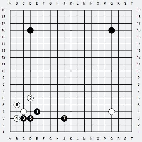 Les 3 Règles de base du Fuseki : Règle 1 3r-2-114