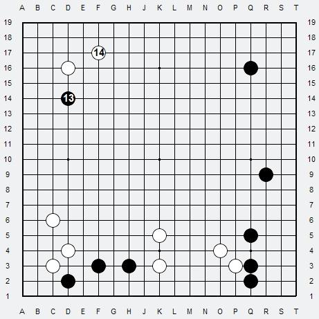 Les 3 Règles de base du Fuseki : Règle 1 3r-2a12