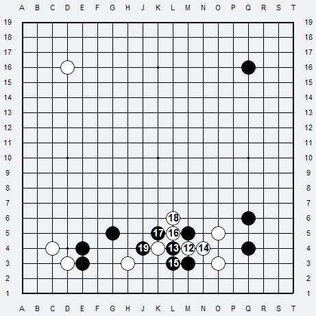 Les 3 Règles de base du Fuseki : Règle 1 3r-3-214