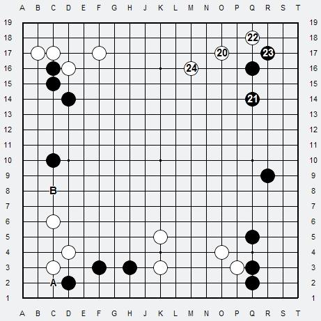 Les 3 Règles de base du Fuseki : Règle 2 3r2-2-13