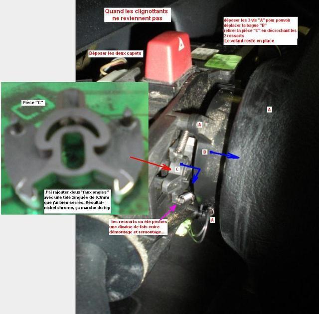 [REPORTAGE PHOTO] Changement du commodo d'essui glace et réparation du commodo de clignotants Retour10