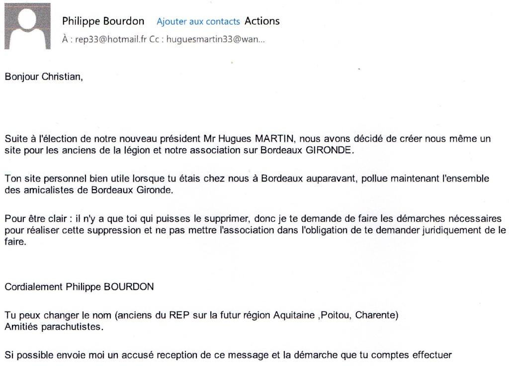 MR   BOURDON  LETTRE  DE  MENACE Bourdo10