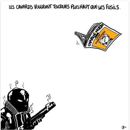 Hommages de dessinateurs étrangers à CHARLIE HEBDO. Boulet10