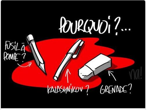 Hommages de dessinateurs étrangers à CHARLIE HEBDO. Na10