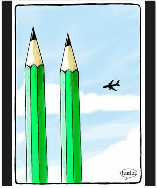 Hommages de dessinateurs étrangers à CHARLIE HEBDO. Oppenh10