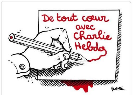 Hommages de dessinateurs étrangers à CHARLIE HEBDO. Plantu10