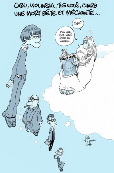 Hommages de dessinateurs étrangers à CHARLIE HEBDO. Zep10
