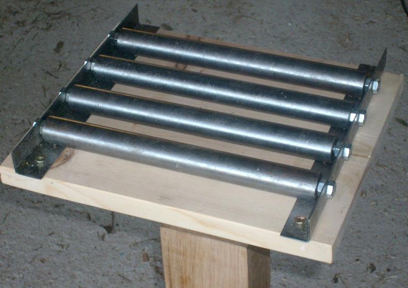 Servante en bois à 4 rouleaux S6300815