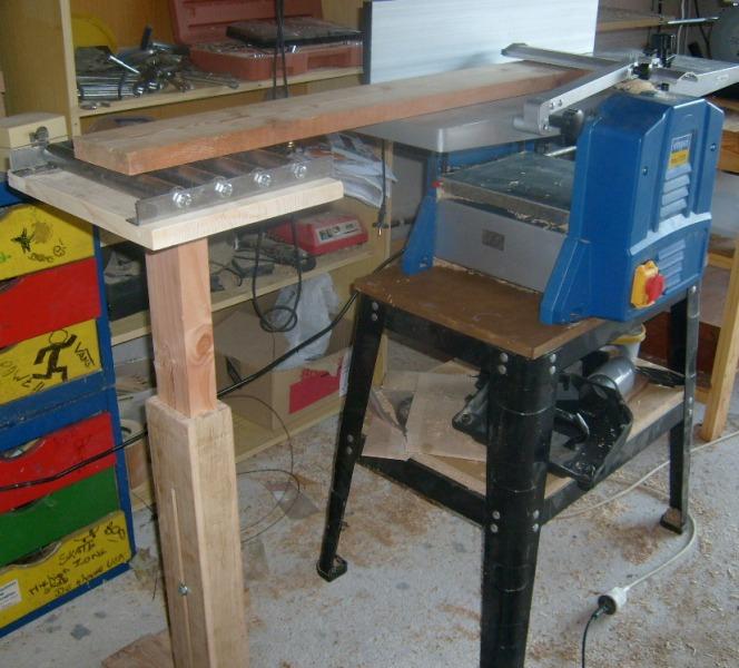 Servante en bois à 4 rouleaux S6300818