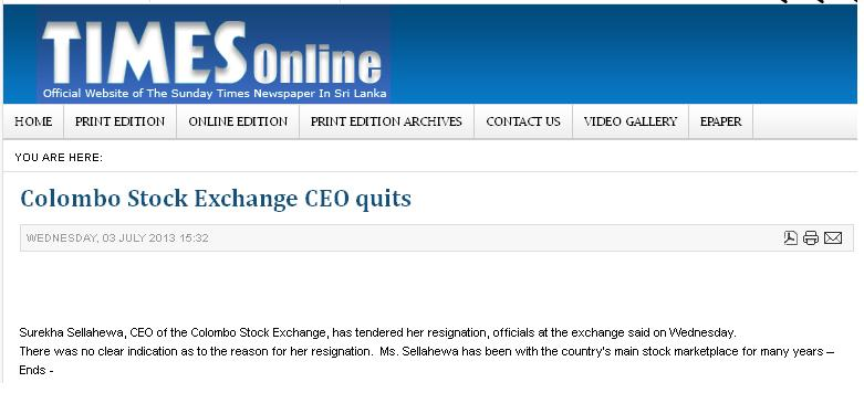 CSE CEO Resign? 110