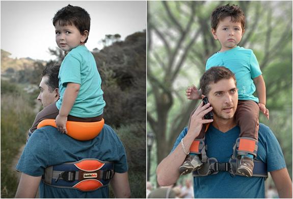 SADDLEBABY : portage de l'enfant sur les épaules facilité  Saddle10