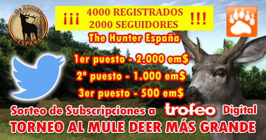 SEMANA ESPECIAL EN THE HUNTER ESPAÑA: SORTEOS Y TORNEOS 2h831t10