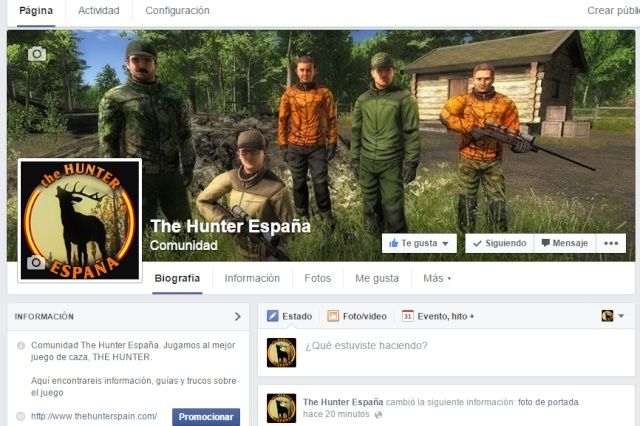 Facebook de The Hunter España Sin_ty10