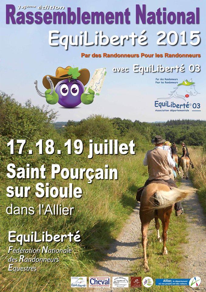 Rassemblement national EquiLiberté 2015 en Allier, Auvergne. 12916310