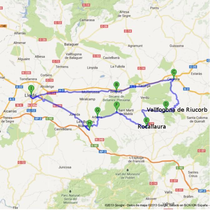 Sábado 27 de julio, Vallfogona de Riucorb Ruta-l11