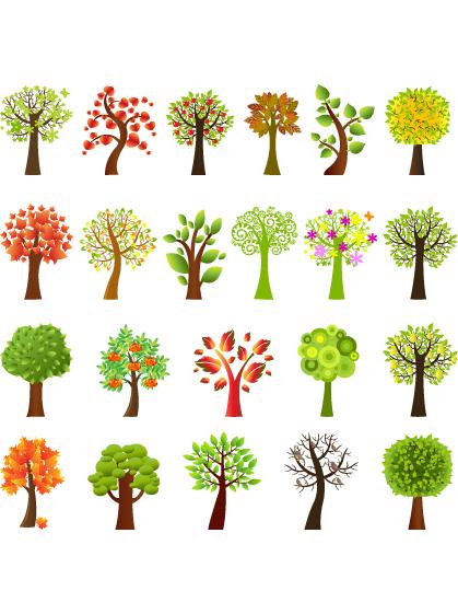 فيكتور اشجار - سكرابز اشجار - اغصان - اوراق شجر D_10