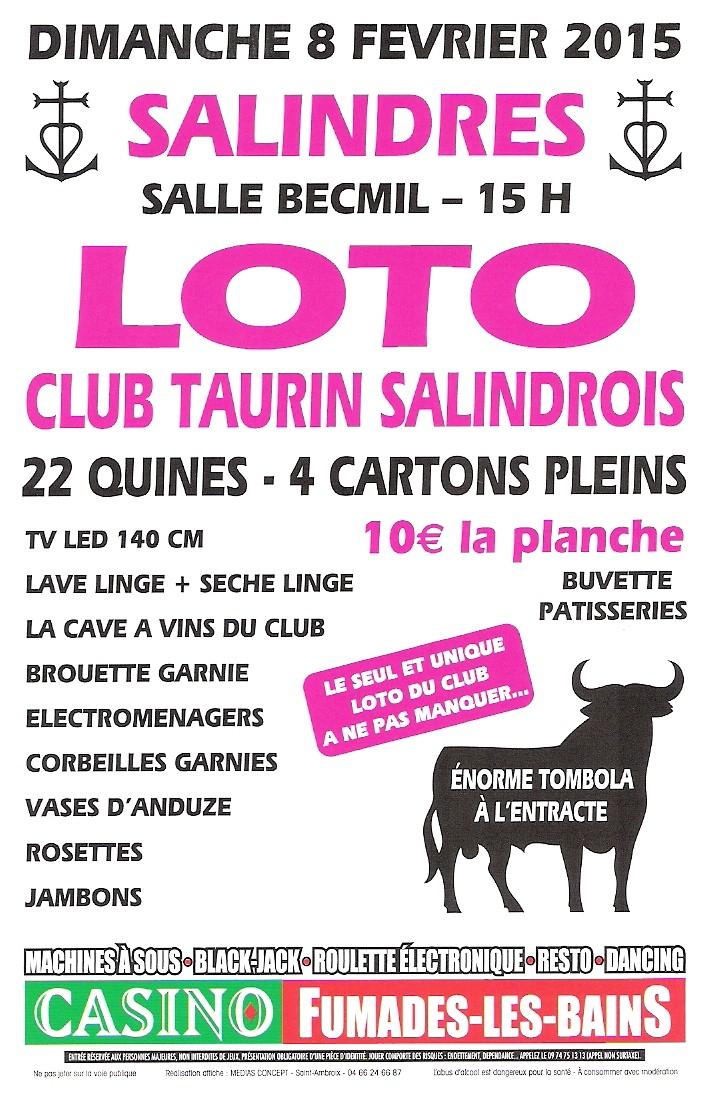 LOTO du CLUB TAURIN SALINDROIS Numyri13