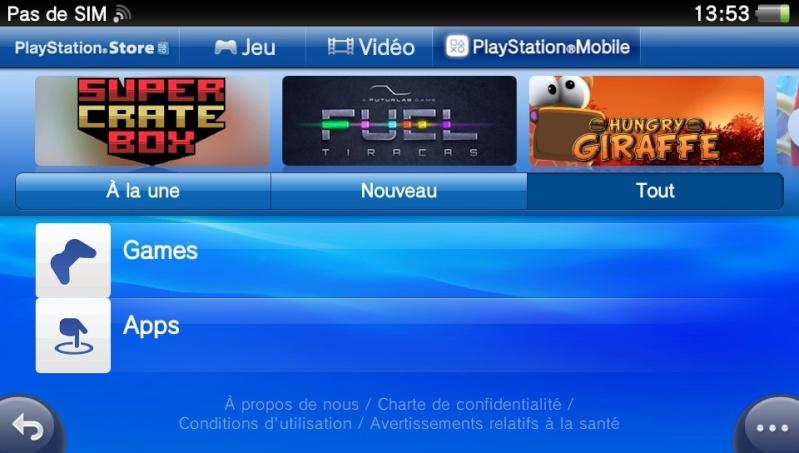 [ANDROID - JEU : PLAYSTATION MOBILE] jouer aux jeux ps sur son mobile[gratuit] 05443010