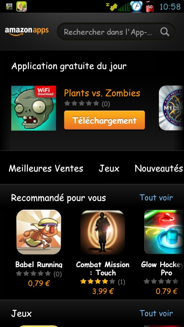 [SOFT] AMAZON APPSTORE : Le market d'amazon enfin disponible pour la France [Gratuit] Screen10