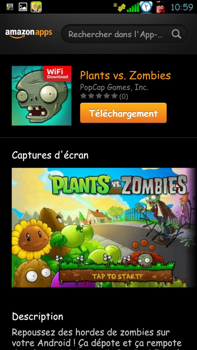 [SOFT] AMAZON APPSTORE : Le market d'amazon enfin disponible pour la France [Gratuit] Screen11