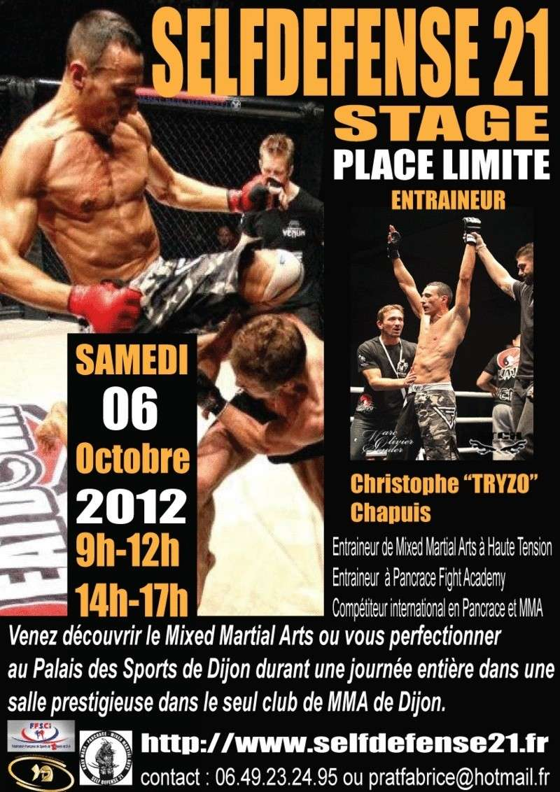 stage Mixed Martial Arts Dijon Samedi 06 octobre 2012 Affich10