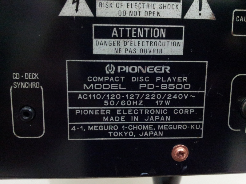 Pioneer PD-8500 Reference Series Top-Class CD-Player ( Used)  20150196