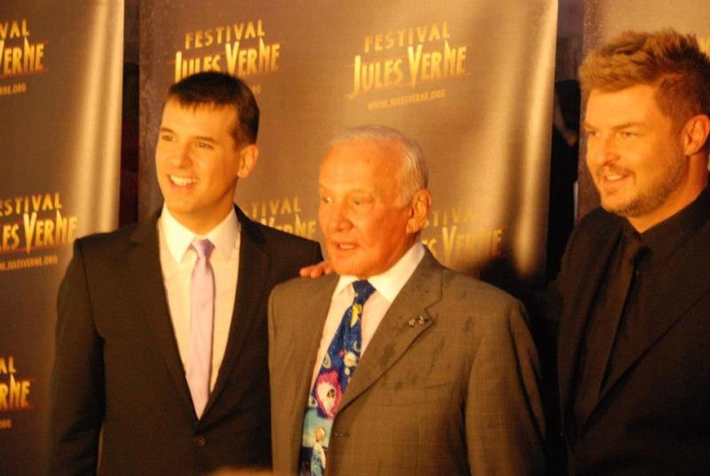 Buzz Aldrin était à Paris ce 11 octobre 2012 au Festival Jules Verne Grand Rex  11oct210