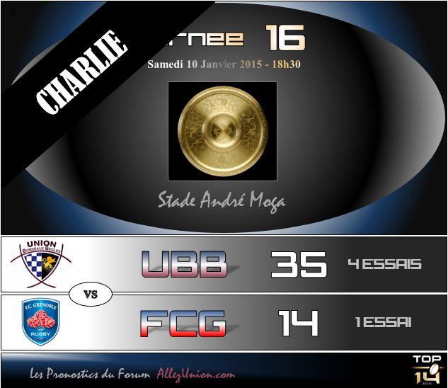 PRONOS 2014/2015 . UBB - FCG J1612