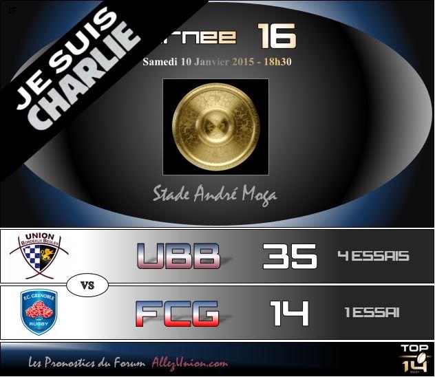 PRONOS 2014/2015 . UBB - FCG J1613