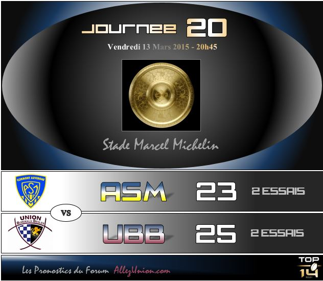 PRONOS 2014/2015 . ASM - UBB J2010