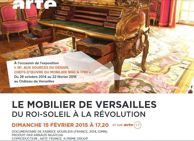 Le mobilier de Versailles -  Arte le 15 février 2015 Arteve10