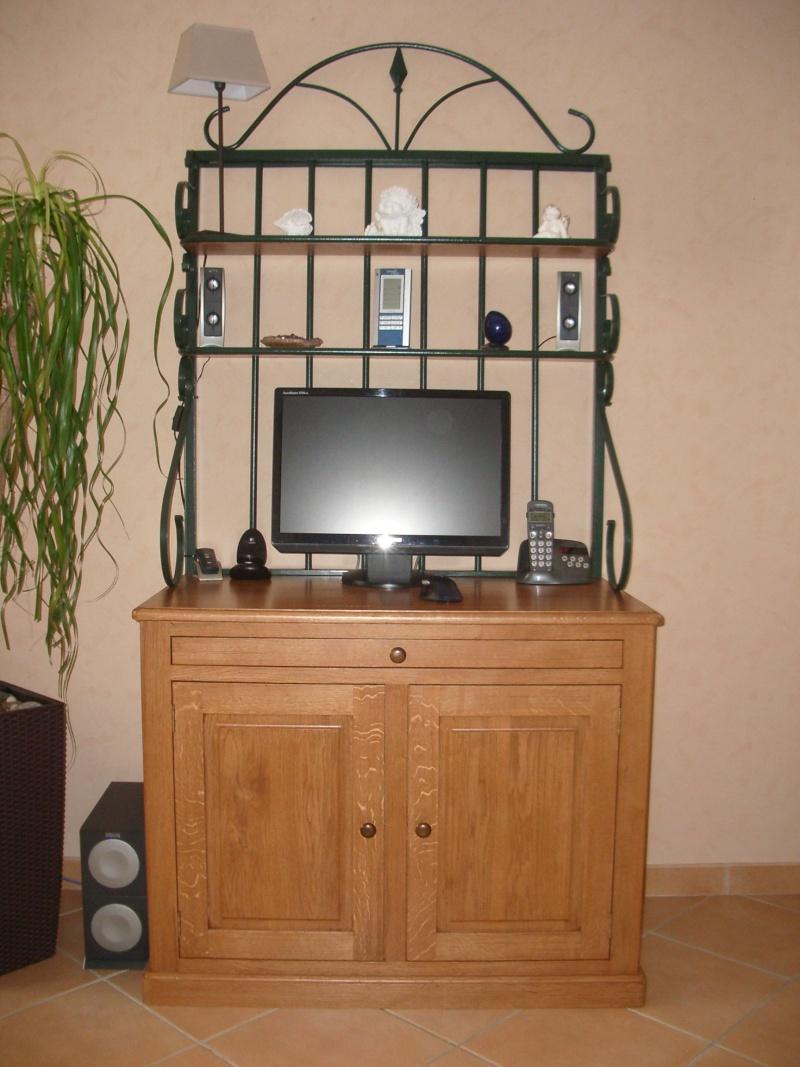 meuble en chêne et fer forgé pour l'ordi  Imgp6013