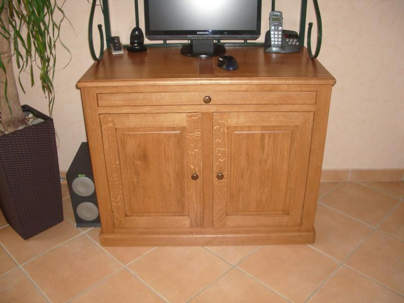 meuble en chêne et fer forgé pour l'ordi  Imgp6015