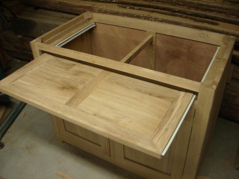 meuble en chêne et fer forgé pour l'ordi  Imgp6017