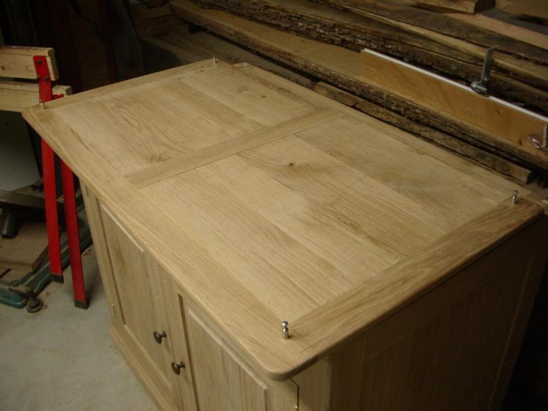 meuble en chêne et fer forgé pour l'ordi  Imgp6021