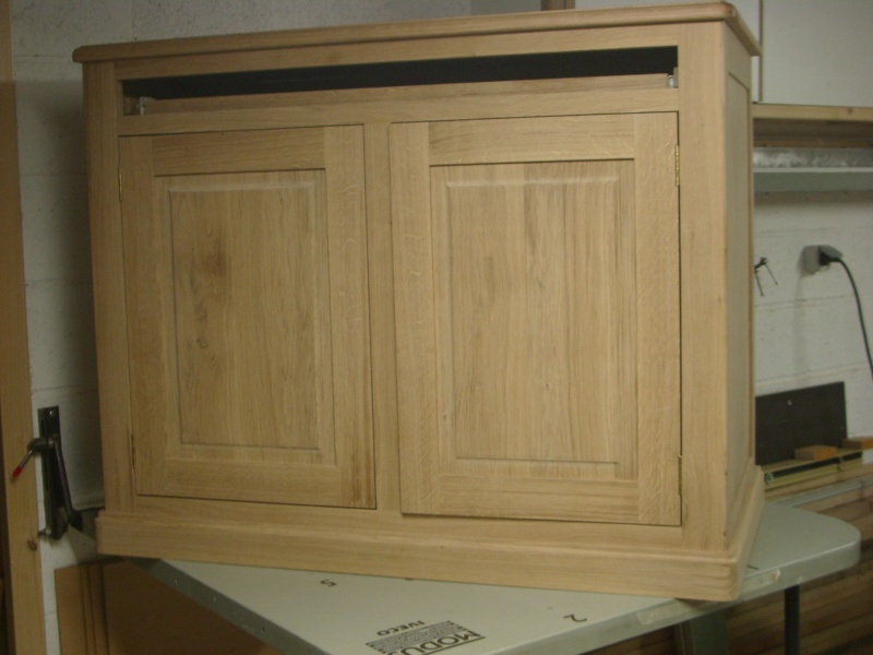 meuble en chêne et fer forgé pour l'ordi  Imgp6025