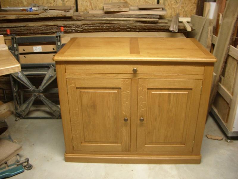 meuble en chêne et fer forgé pour l'ordi  Imgp6027