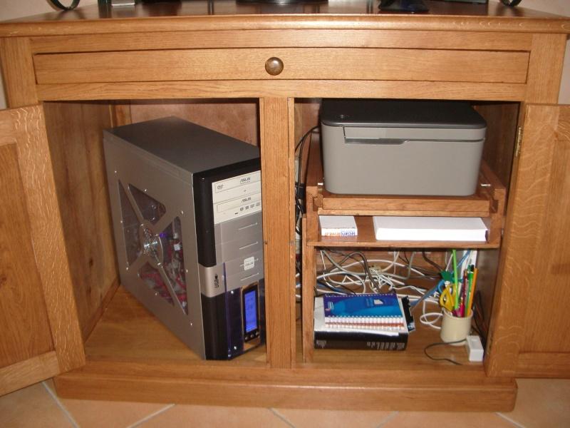 meuble en chêne et fer forgé pour l'ordi  Imgp6028