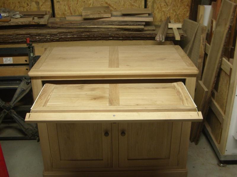 meuble en chêne et fer forgé pour l'ordi  Imgp6030