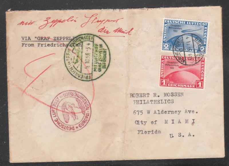 nach - Gefälschter Zeppelinbrief Chicag10