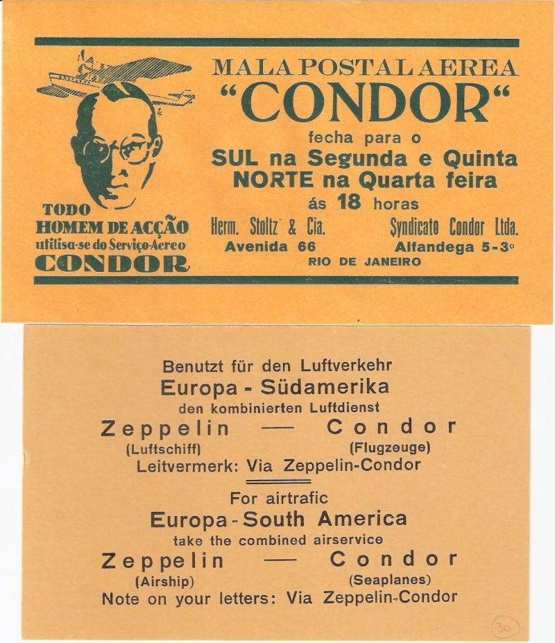 Condor-Flugpostmarken auf Belegen der Südamerikafahrt 1930 - Seite 2 Condor10