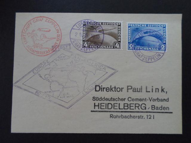 nach - Gefälschter Zeppelinbrief Heidel10