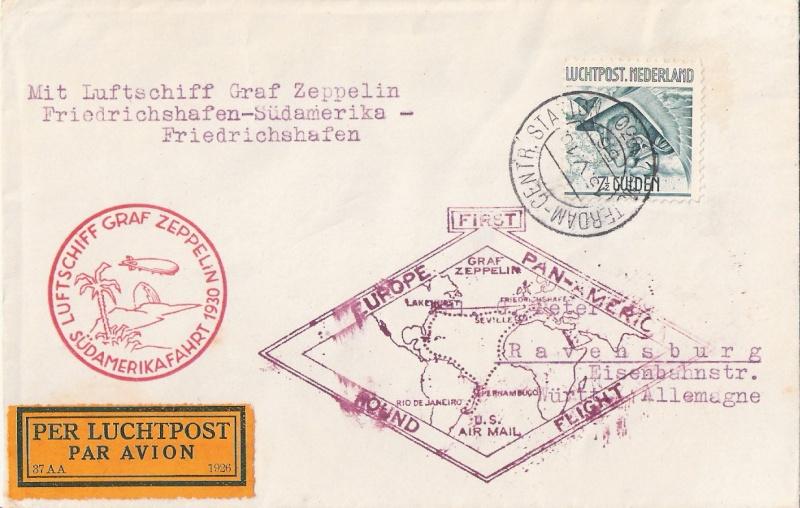 """Südamerikafahrt 1930 (Rundfahrt-) Post nach Friedrichshafen"""" - Seite 5 Scanne27"""