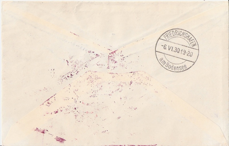 """Südamerikafahrt 1930 (Rundfahrt-) Post nach Friedrichshafen"""" - Seite 5 Scanne28"""